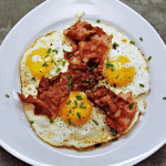 Air Fryer Bacon and Eggs