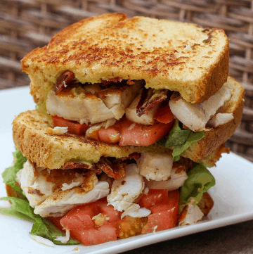 Air Fryer Grilled Cheese With Bacon