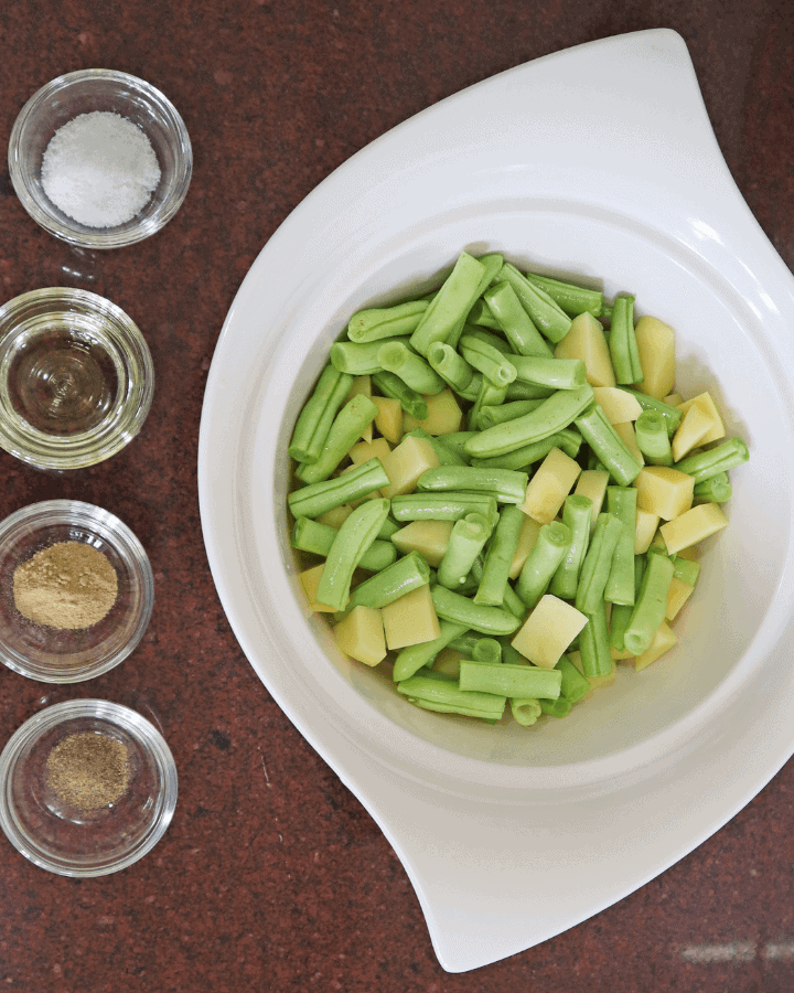 potatoes and green beans in air fryer ingredients